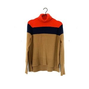 J. Crew Colorblock Turtleneck in Supersoft Yarn